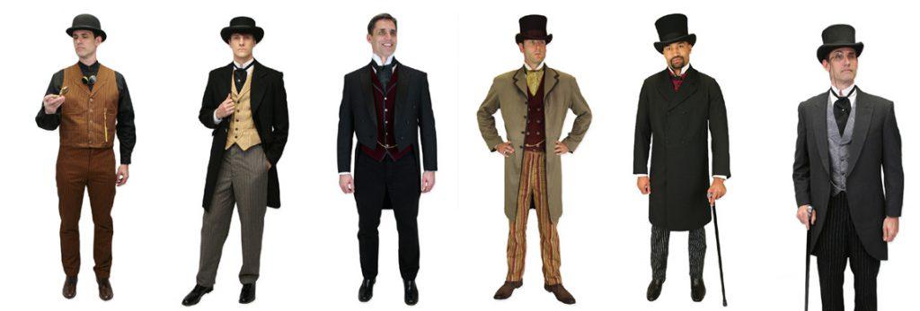 1800-tals herrar i fina kläder