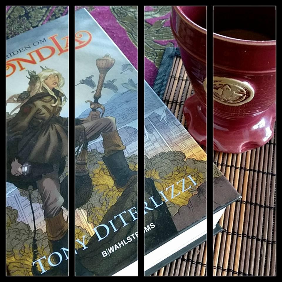 Morgonrutinen i att dricka kaffe och läsa böcker