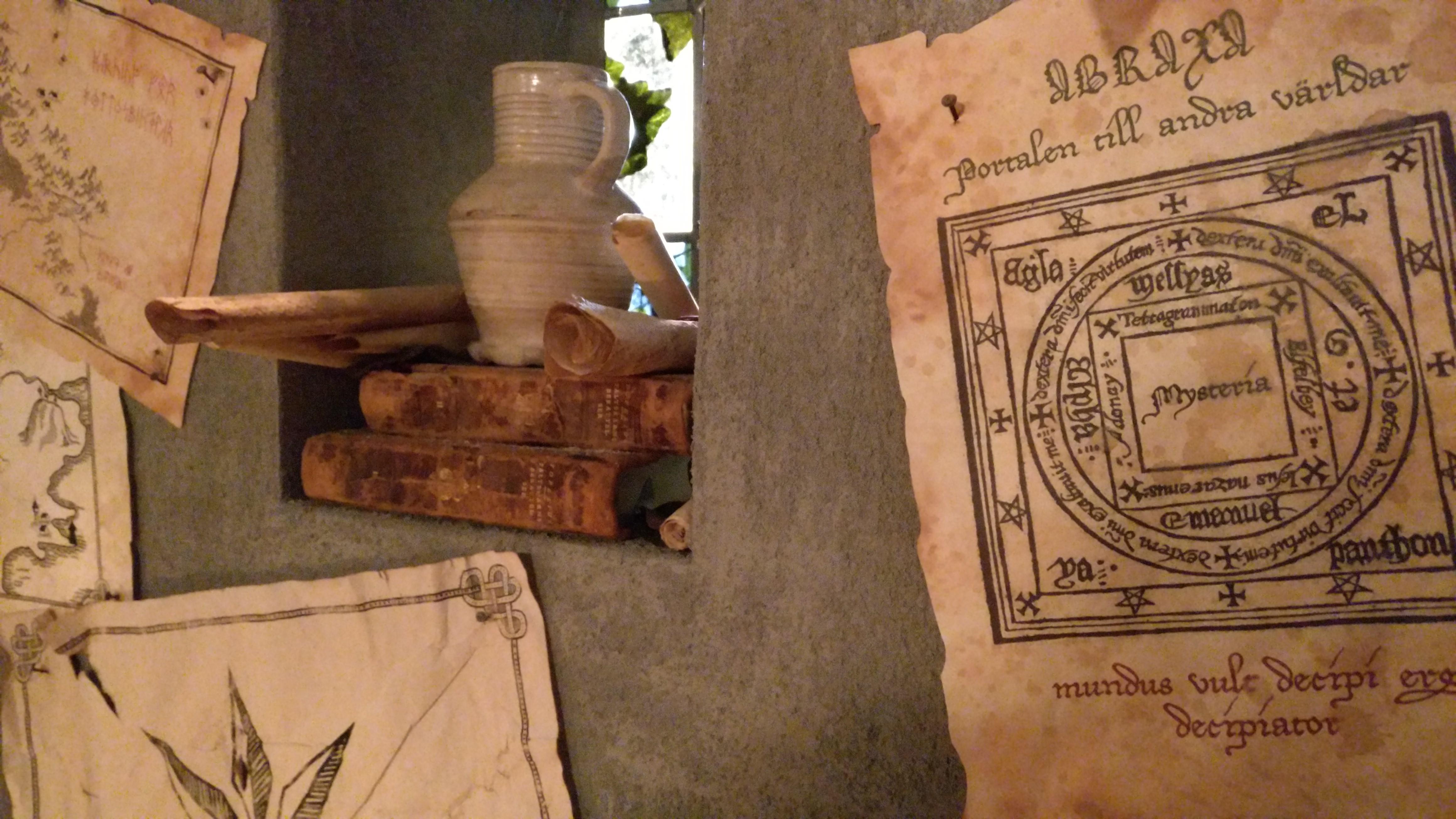 Pergament med trollformler från Mysteria