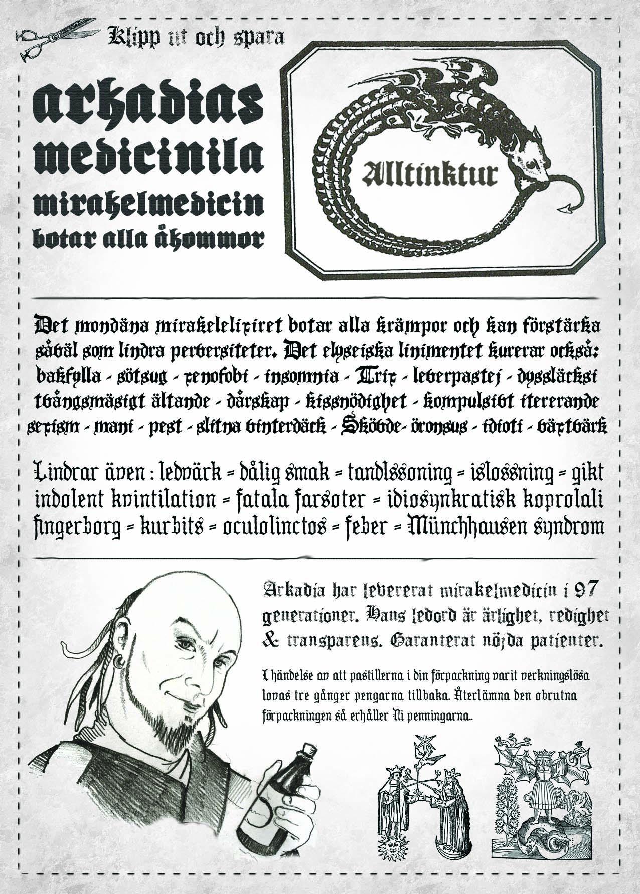 Reklamaffisch för Alltinktur